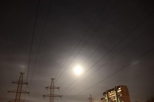 Параселена 12.03.2017, в небе над Москвой, во время полнолуния.