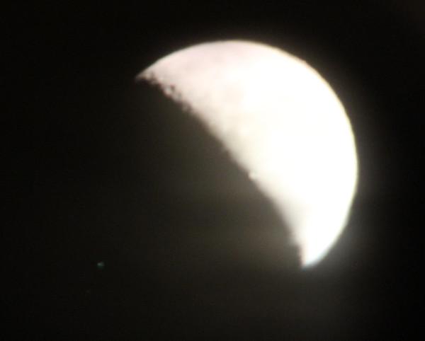 Луна и звёзды Альфа 1 и Альфа 2 Весов 25.01.2014.