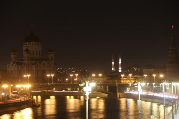 +Час Земли (25.03.2017, г. Москва, вид - с моста над Москвой-рекой, без подсветки - на Храм Христа Спасителя).JPG