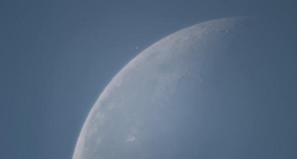 Альдебаран - за несколько минут до покрытия его Луной, 16.08.2017, в небе над Москвой