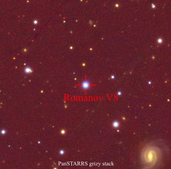 Переменная звезда Romanov V8.