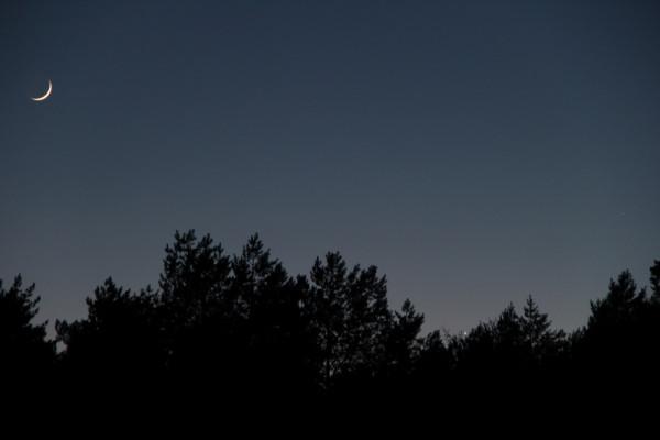 Луна, Венера и Меркурий 19.03.2018.