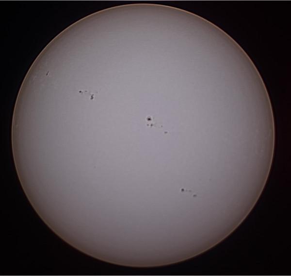 Солнце 25 марта 2014 года.