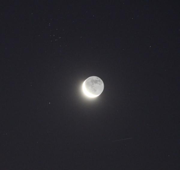 Луна и звёздное скопление М44 - 07.09.2018.
