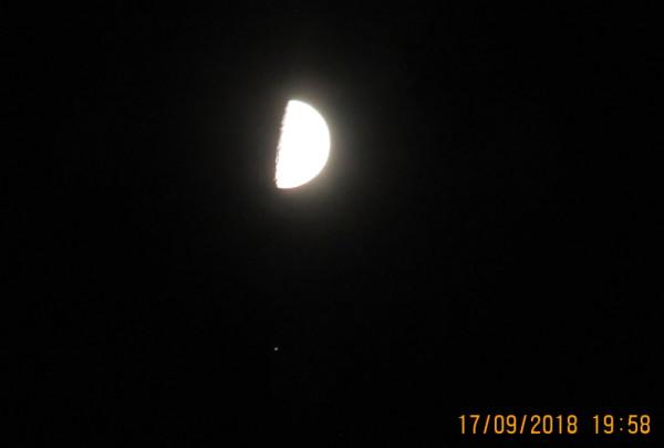 Соединение Луны и Сатурна 17.09.2018.