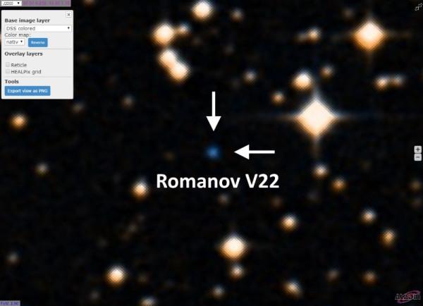 Переменная звезда Romanov V22.