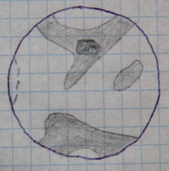 Зарисовка Марса от 19 апреля 2014 года.