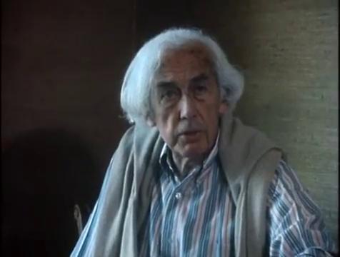 Робер Брессон во время интервью французскому телевидению, 1984 год.