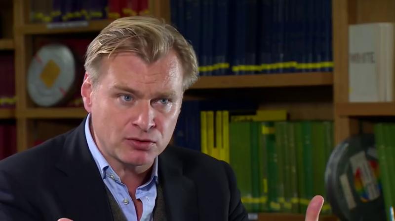 Кристофер Нолан во время телеинтервью BBC 16 октября 2015 года.