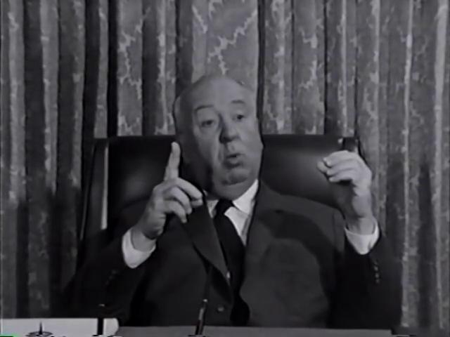 Альфред Хичкок во время интервью телекомпании CBC, 1964 год
