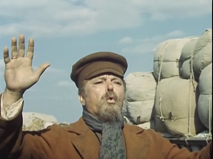 """Сергей Бондарчук в своем фильме """"Степь"""". 1977."""