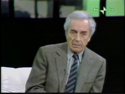 Микеланджело Антониони во время интервью итальянскому телевидению, 1987 год.