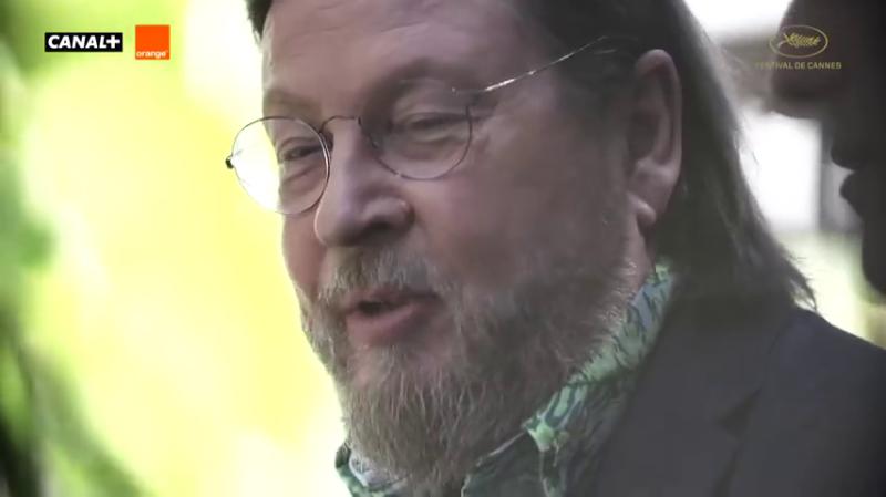 Ларс фон Триер во время Каннского кинофестиваля 2018 года.