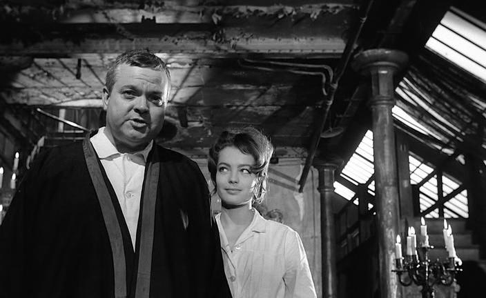 """Орсон Уэллс в своем фильме """"Процесс"""". 1962. Рейтинг фильма - 7,804, 986-е место в Золотой Тысяче."""