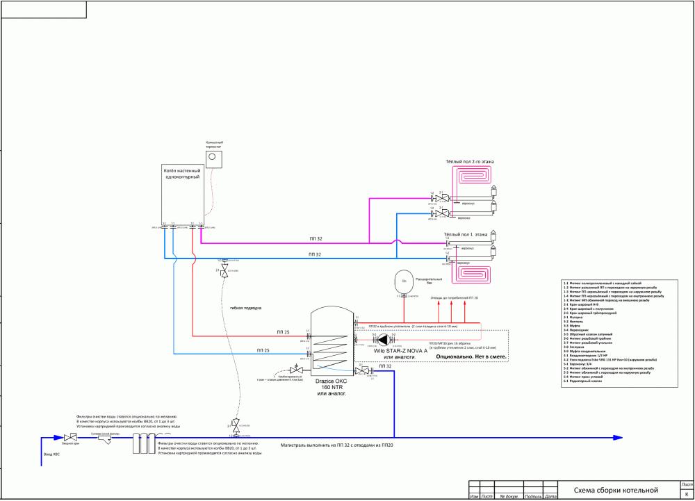 это только схема котельной а не весь проект.