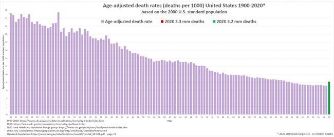 ASMR по годам в США