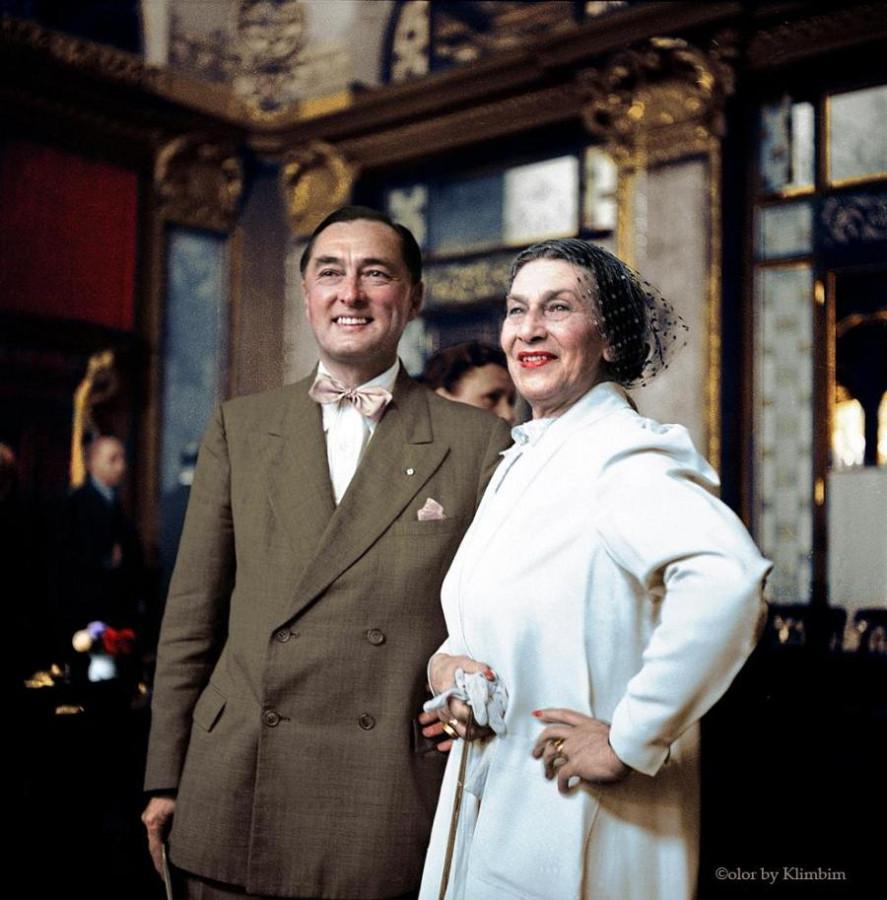 Калерги с женой Идой Роланд