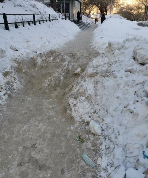 Варламов, Новосибирск. сугробы и тд
