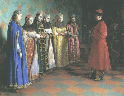 Григорий Седов. Выбор невесты царём Алексеем Михайловичем. 1882