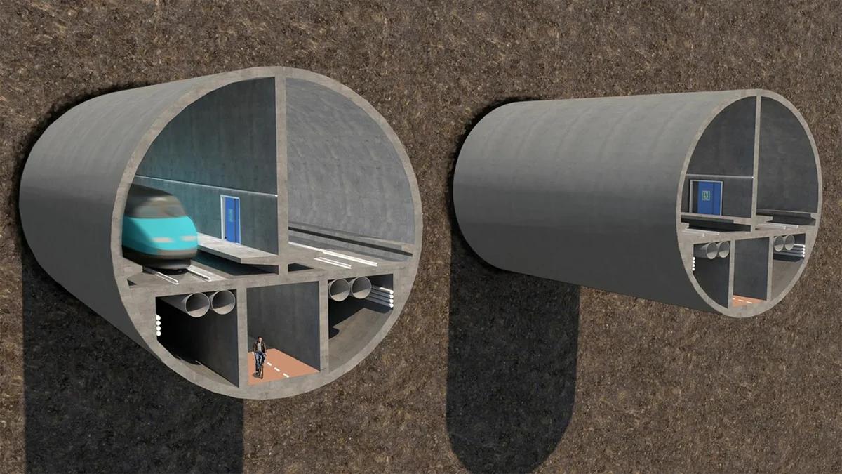 Проект тоннеля Хельсинки-Таллин. Изображение: Finest Bay Area Development