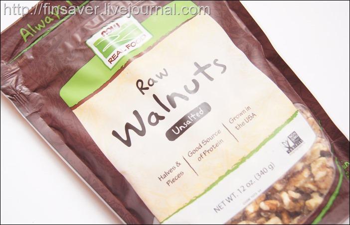 Now Foods, Real Food, сырые грецкие орехи, несоленые, 12 унций (340 г)дешево органика шруки iherb.com отзывы купон на скидку в 10$ инструкция как сделать заказ акции скидки   косметика БАДы витамины