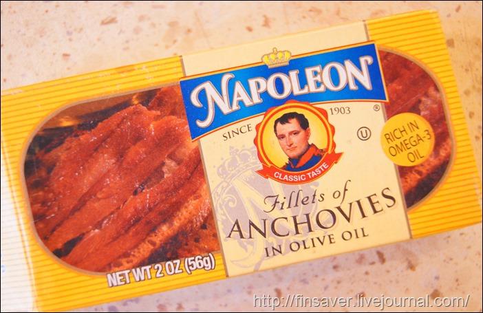 Napoleon Co., Fillets of Anchovies in Olive Oil, 2 oz (56 g) фото анчоусы где купить рецепт пасты с морепродуктами макароны вкусно купон на скидку в 10$ шруки iherb.com