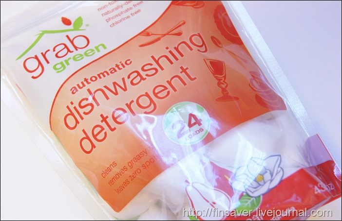 GrabGreen, Automatic Dishwashing Detergent, Red Pear with Magnolia, 24 Loads, 15.2 oz (432 g)безопасные таблетки для посудомойки фото купон на скидку 10$ отзыв не оставляет налета бытовая химия биоразлогаемая