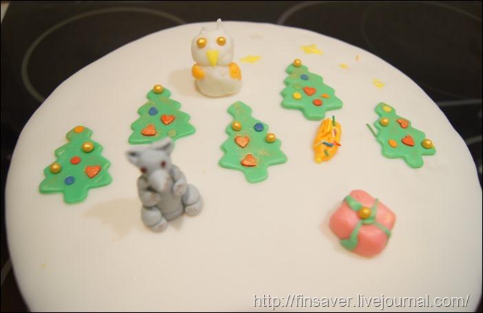 новый год торт мастика рецепт способ приготовления как раскатать творчетсво с детьми