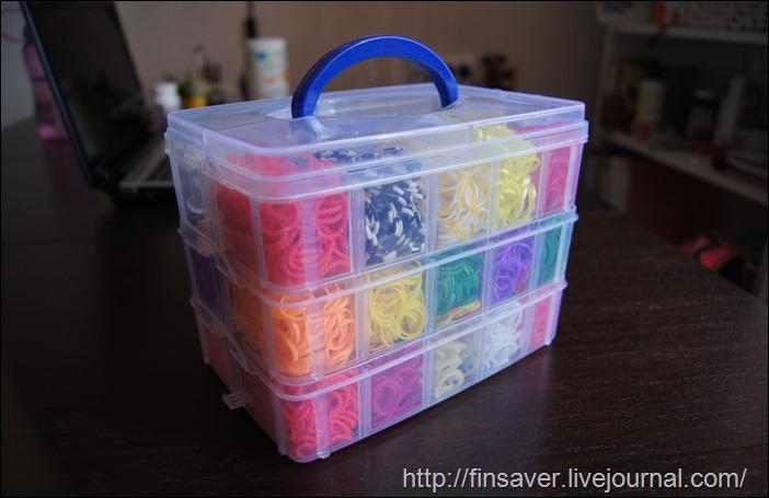 дешевый набор резиночек для плетения браслетов с Aliexpress аналог rainbow loom отзыв фото посмотреть много резиночек