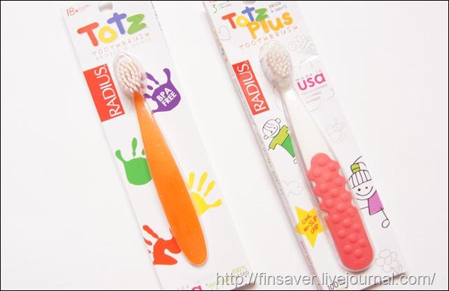 RADIUS, Totz Plus Toothbrush, 3+ Years, White/Pink Coral, 1 Toothbrush Radius, Totz Toothbrush, 18 + Months, Extra Soft, Green Sparkle детские зубные щетки от 3-х лет от 18 месяцев для самостоятельной чистки мягкая щетина не травмирует кариес избежать отличное очищение очищает налет дешево органика шруки iherb.com отзывы купон на скидку в 10$ инструкция как сделать заказ акции скидки