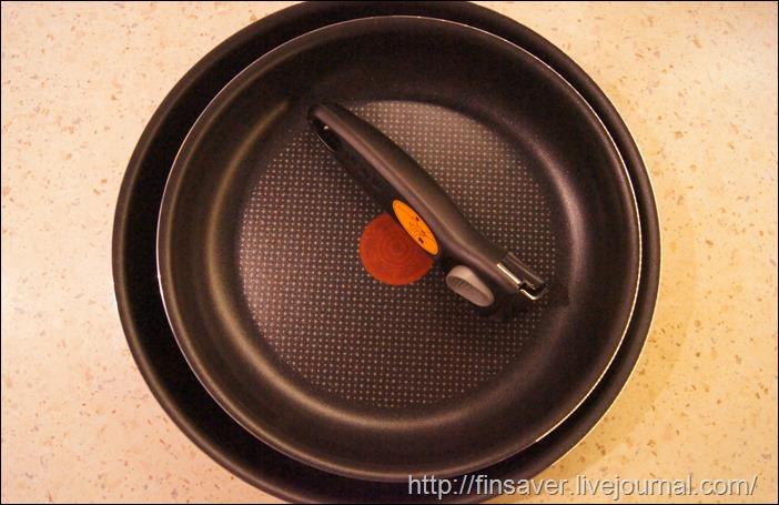 Набор сковородок Tefal Ingenio, с антипригарным покрытием, со съемной ручкой, цвет черный, 3 предмета. отзыв фото тестирование