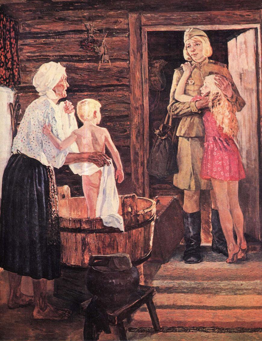 Марченко Нина Яковлевна (Россия, 1940) «Мир. Конец войны» 1975-1976