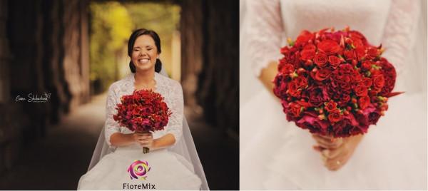 Букеты красные свадебные платья