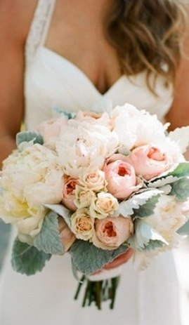 Свадебный букет из белых молодых роз и пионовидных, москва доставка цветов круглосуточно челябинск