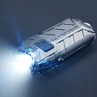Nitecore T Series Rechargeable USB LED Flashlight Key - chain Tube Light (45LM 2 Modes)  -  BLACK