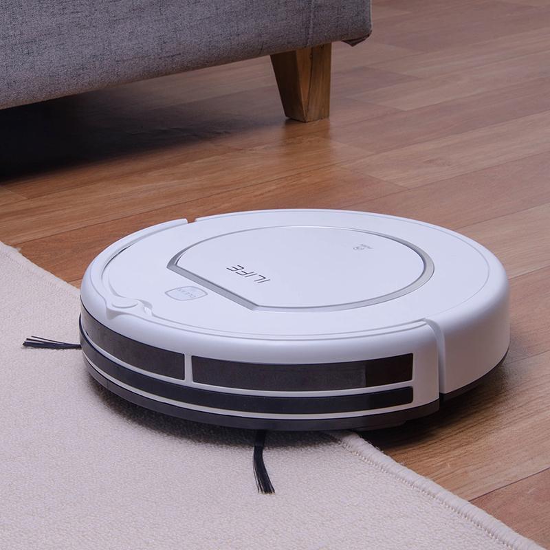 ILIFE-V1-Робот-пылесос-новый-бренд-500PA-мощность-всасывания-автоматический-интеллектуальный-датчик-эффективная-HEPA-очистка-анти