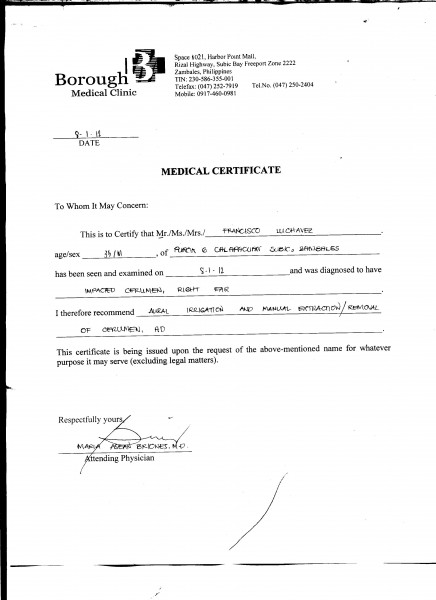 Pin Medical Certificate Philippines On Pinterest
