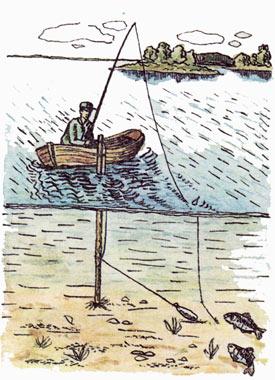 ловля в проводку на глубине