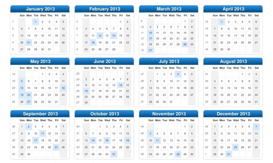 Tulisa 2014 calendar