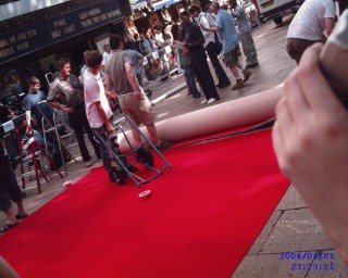 The Red carpet being layed