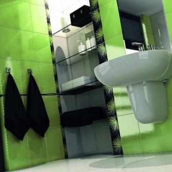 Зелёная ванная комната. (Открывается в новом окне)