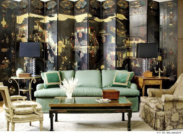 chinoiserie-panel-screen-celadon-sofa-living-room-french-chair-tradional-eclectic-decor