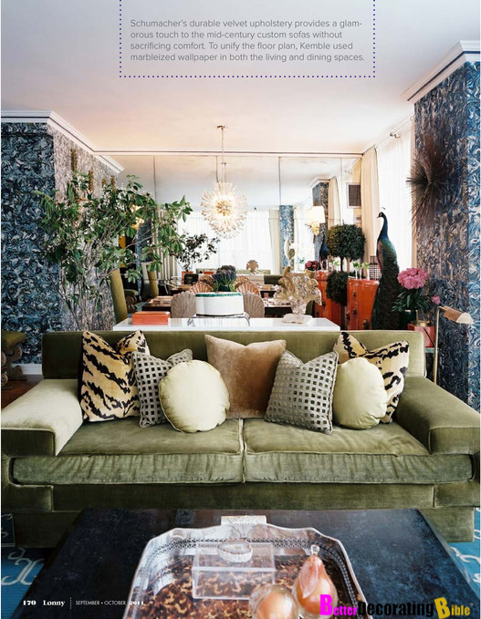 Suzy-q-better-decorating-bible-blog-oversized-coffee-tables-morrocan-style-blue-walls-ideas-chic-display-urn-pot-serving-tray-green-couch-leopard-tiki-style-1