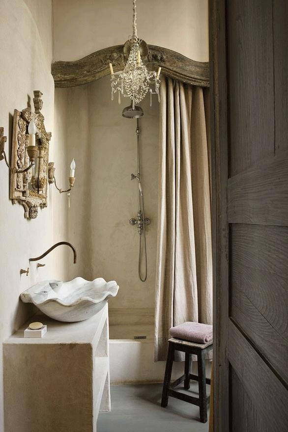 двойная штора в ванную