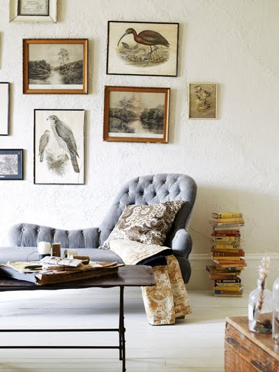 chaise tufted art via dying of cute on tumblr