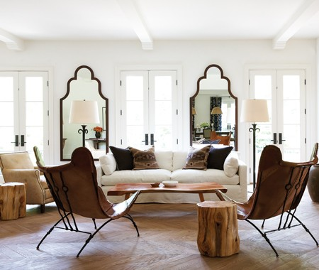 house and home white living room huge moorish tall floor mirrors leather butterfly chairs cococozy