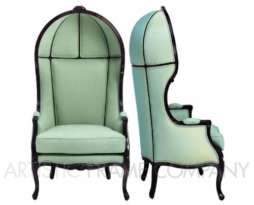 canopy louis xv chair from artistic frame company via carolyn rebuffel