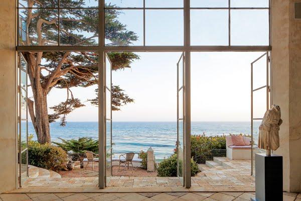 Terrace overlooking broad beach malibu steel encased windows doors cococozy