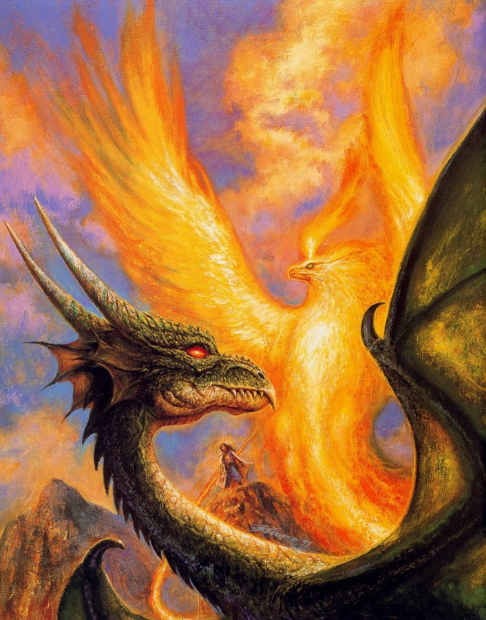 Dragon and Phoenix - Bob Eggleton