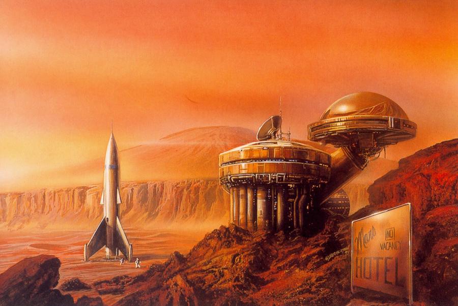 Mars hotel - Bob Eggleton